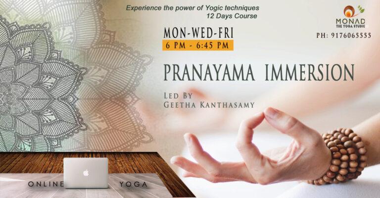 pranayama immersion