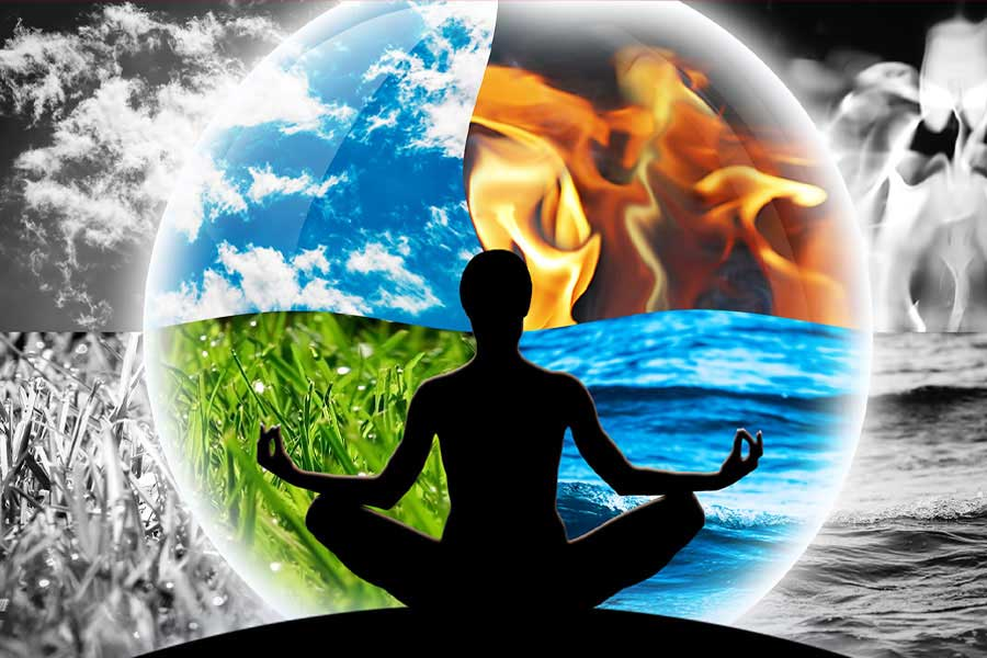 Prana is obtained from the five elements of the Universe.